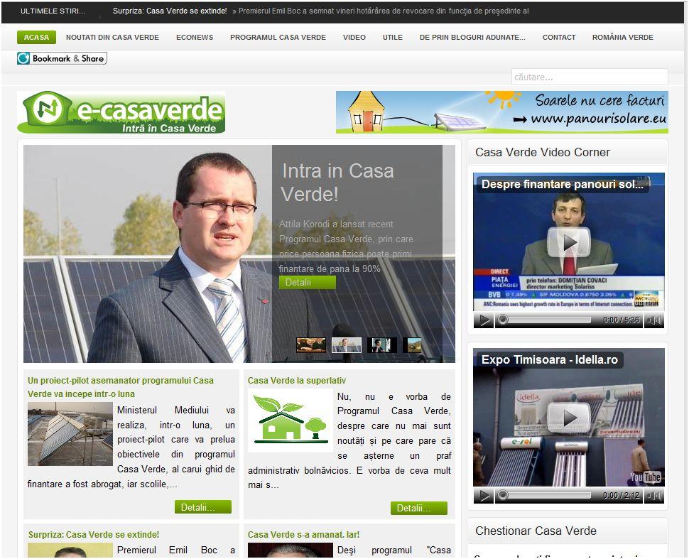 casa verde panouri solare