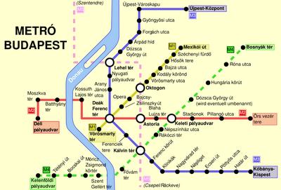 budapesta-harta-metrou