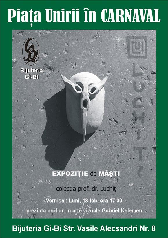 expoziţie de măşti din colecţia dr. luchiţ