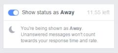 Adminii paginilor de Facebook pot seta statusul Away la sectiunea mesaje